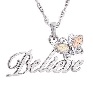 Black Hills Gold over Silver Believe Pendant