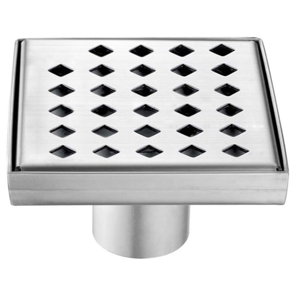 """Dawn Mississippi River Series - Square Shower Drain 5""""L (Stamping technique & press in the base)"""