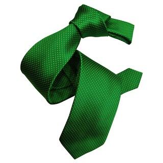 Dmitry Men's Green Patterned Italian Silk Tie