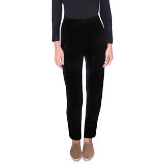 Dolores Piscotta Women's Stretch Velvet Narrow Leg Pants