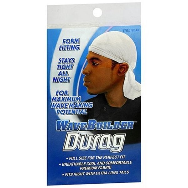 Wave Builder Wave Activating Black Du-Rag