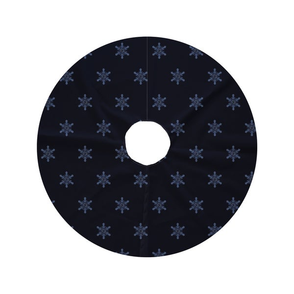 Round Flurries Decorative Holiday Print Tree Skirt