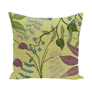Botanical Floral Print Outdoor Pillow