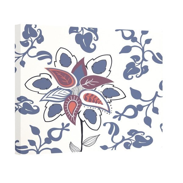 Paisley Pop Floral Print Outdoor Wall Art