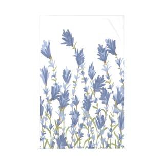 Lavender Floral Print Throw Blanket