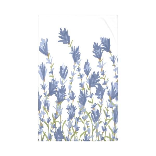 Lavender Floral Throw Blanket