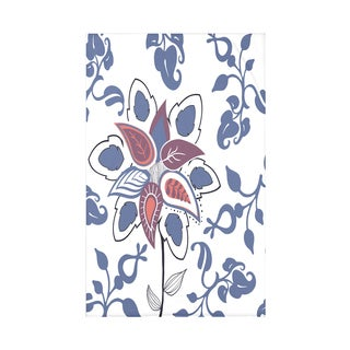 Paisley Pop Floral Print Throw Blanket