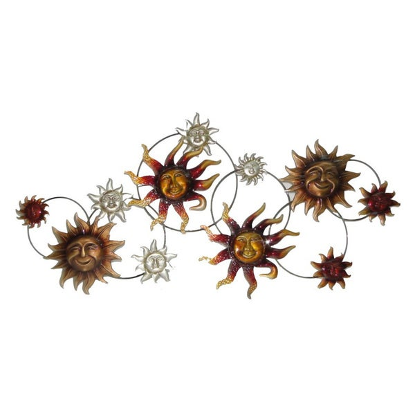 40-inch Sun Strand Metal Wall Decor (As Is Item)