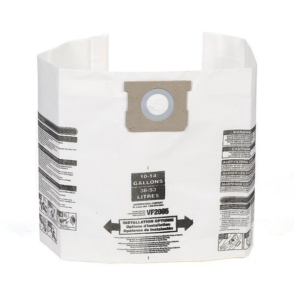 MULTI-FIT VF2005 10 to 14-Gallon Wet/Dry General Dust Filter Bags (3) 16593580