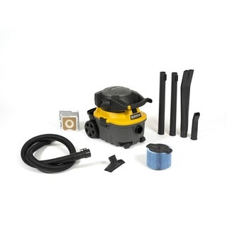 WORKSHOP WS0400DE 4 Gal. 6.0 Peak HP Detachable Blower Wet/Dry Shop Vacuum