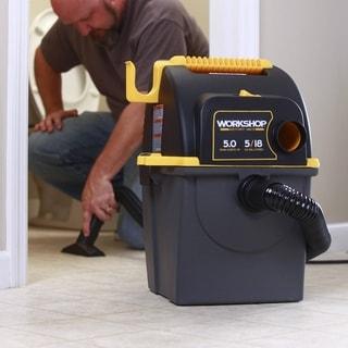 WORKSHOP Wet/Dry Vacs WS0500WM 5 Gal. 5.0 Peak HP Wall Mount Portable Wet/Dry Shop Vacuum