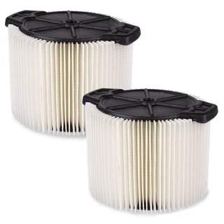 WORKSHOP Wet/Dry Vacs WS11045F2 3 - 4.5 Gal. Standard Cartridge Filter for Wet/Dry Shop Vacuum (Set of 2)