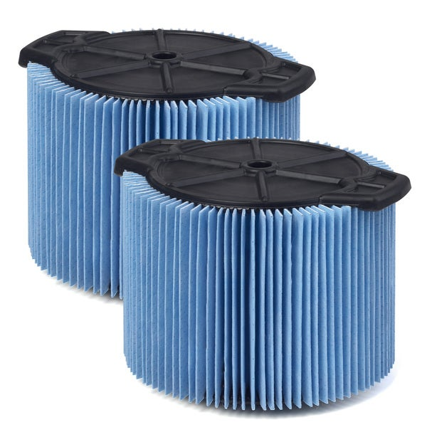 WORKSHOP Wet Dry Vacs WS12045F2 Fine Dust Cartridge Filter for Wet Dry Shop Vacuum, 3 to 4.5-gallon, 2-pack