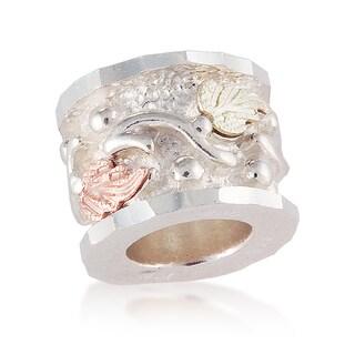 Black Hills 12k Tri-color Gold over Silver Bracelet Bead