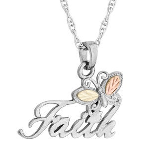 Black Hills Gold over Silver Faith Pendant