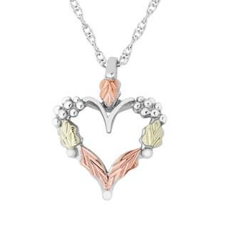 Black Hills Gold over Silver Heart Pendant