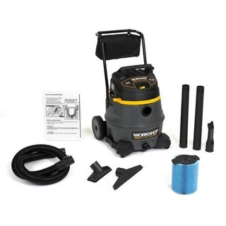 Workshop Wet Dry Vacs WS1400CA High Power Wet Dry Shop Vacuum with Cart, 14-gallon, 6.0 Peak HP