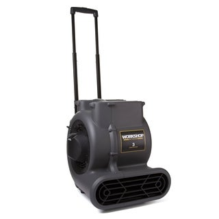 WORKSHOP Wet Dry Vac WS1625AM High Velocity Air Mover Fan/ Carpet and Floor Dryer Blower with Collapsible Handle and Wheels