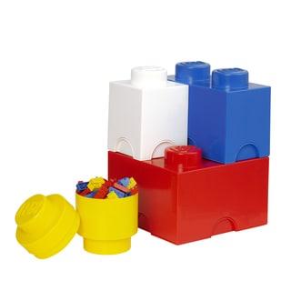LEGO Storage Brick 4-piece Multi-Pack (Bright Red/ Bright Blue/ Bright Yellow/ White)