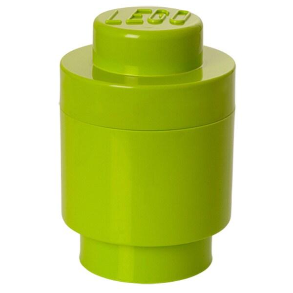 LEGO Lime Green Round Storage Brick 1