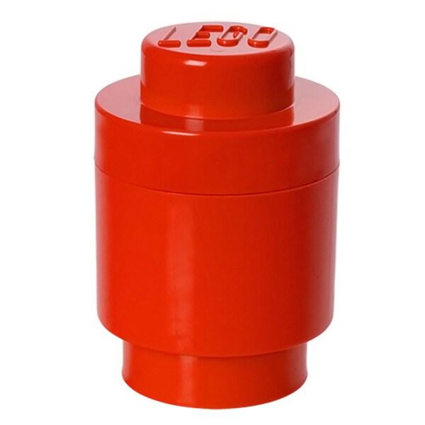 LEGO Bright Red Round Storage Brick 1