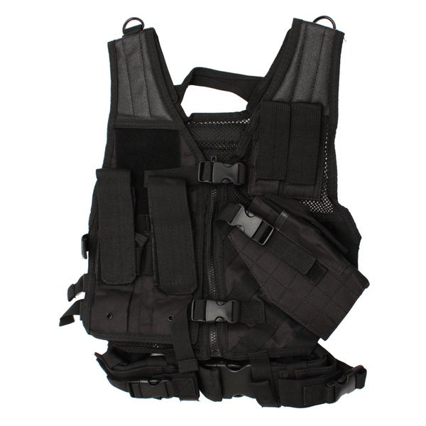 NcStar Tactical Vest Childrens, Black XS-S