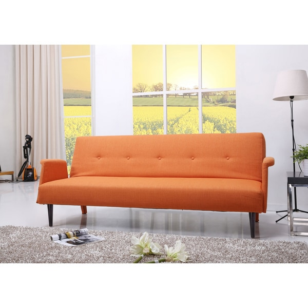 Westminster Orange Convertible Sofa Bed