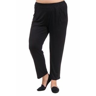 24/7 Comfort Apparel Women's Plus Size 2-pocket Straight Leg Pant