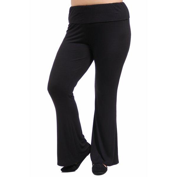 24/7 Comfort Apparel Women's Plus Size Straight Leg Pant