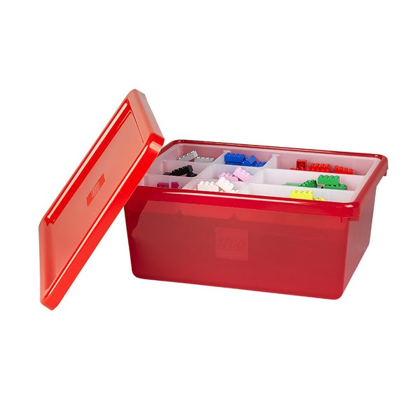LEGO Red Medium Storage Box with Lid