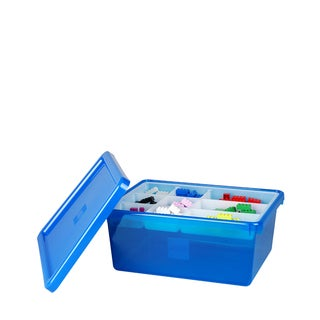 LEGO Blue Medium Storage Box with Lid