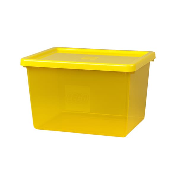 LEGO Large Yellow Storage Box with Lid and Sorting Tray