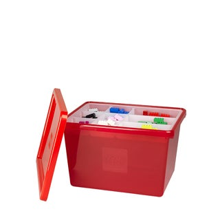 LEGO Red Large Storage Box with Lid