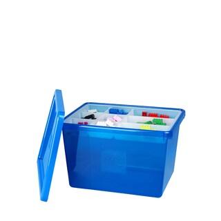LEGO Blue Large Storage Box with Lid