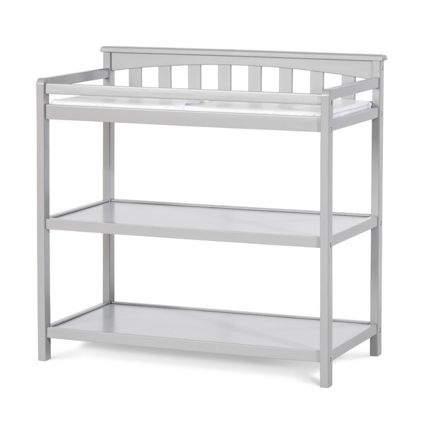 Child Craft Flat Top Cool Grey Dressing Table