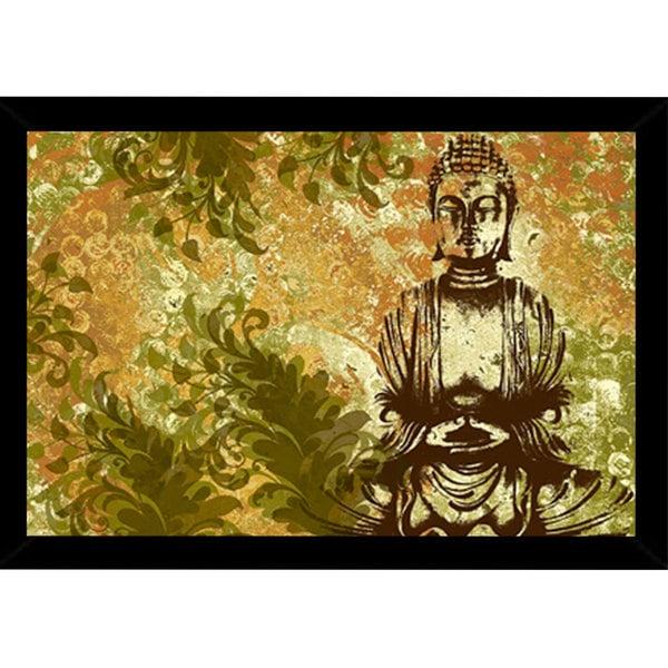Zen Garden Print with Traditional Black Frame