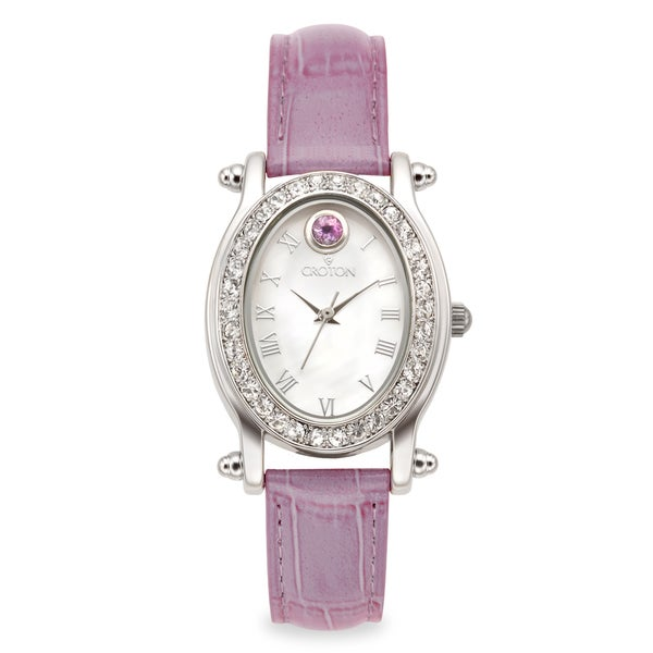 June Birthstone Watch with Mother of Pearl Dial
