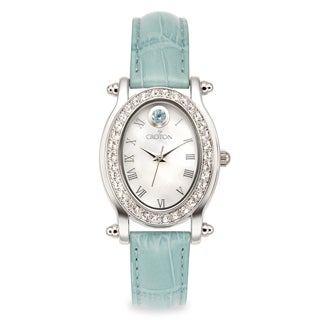 Croton Women's CN207537TOMP Stainless Steel December Birthstone Watch
