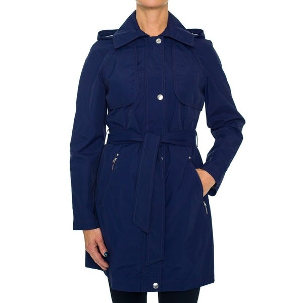 Laundry By Shelli Segal Belted Parka with Rolled Up Sleeves