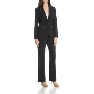 Tahari Arthur S. Levine Women's Pinstripe 2-Piece Pant Suit