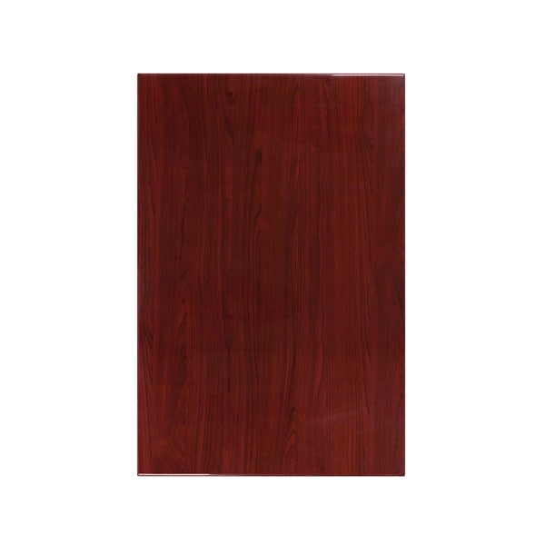 "30"" x 45"" Rectangular Resin Mahogany Table Top"