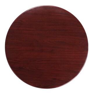 36-foot Round Resin Mahogany Table