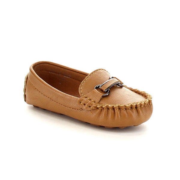 VIA PINKY JULIO-02B Children Boy Slide On Moccasin Top Flat Loafer Shoes