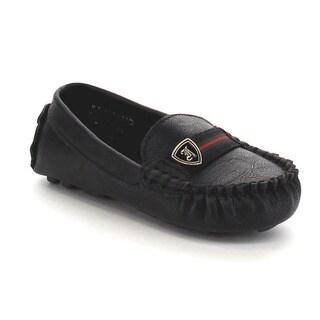 VIA PINKY JULIO-01B Children Boy Slide On Moccasin Top Flat Loafer Shoes
