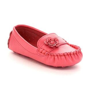 Via Pinky Girl's Emmy-03B Slip-On Moccasin Flower Flat Loafers