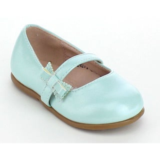 VIA PINKY DELLA-08B Children Girl Bow Ankle Strap Slip On Flat Loafers