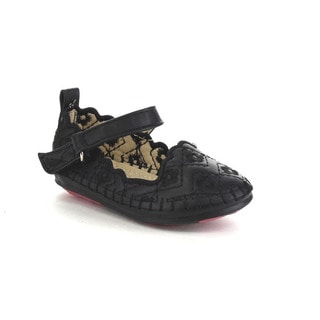 VIA PINKY CIEL-73B Children Girl Slide On Ankle Strap Flat Loafer Shoes