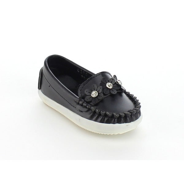 VIA PINKY BECCY-61B Children Girl Slide On Moccasin Flower Flat Loafers