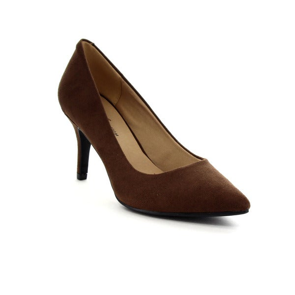 Forever Women's Basic Pointed Toe Slip-On Pumps