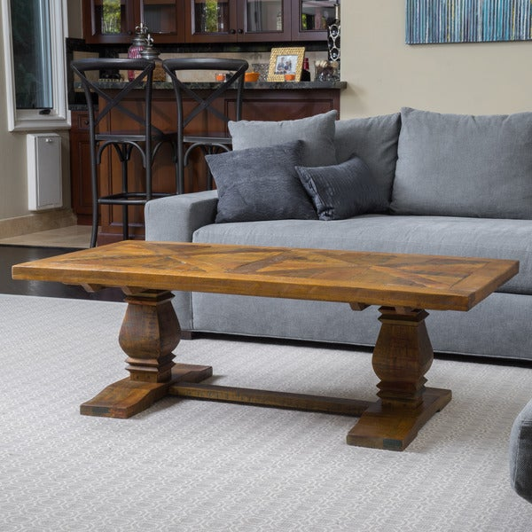 Christopher Knight Home California Vintage Rectangle Mango Wood Coffee Table